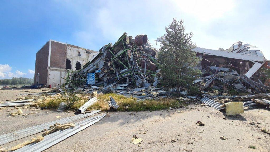 Kristiinankaupungin voimalaitoksen viimeinen kattilarakennus on purettu